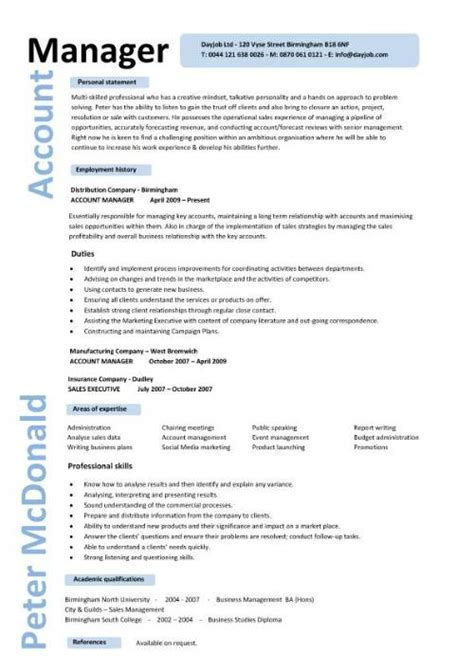 purchase account manager cv template