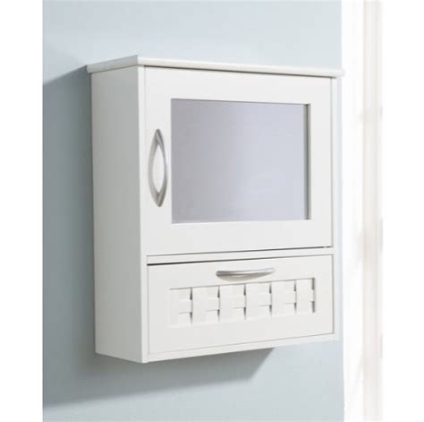White Bathroom Wall Cabinet With Drawers by White Bathroom Wall Mirror Cabinet Woven Lattice Design