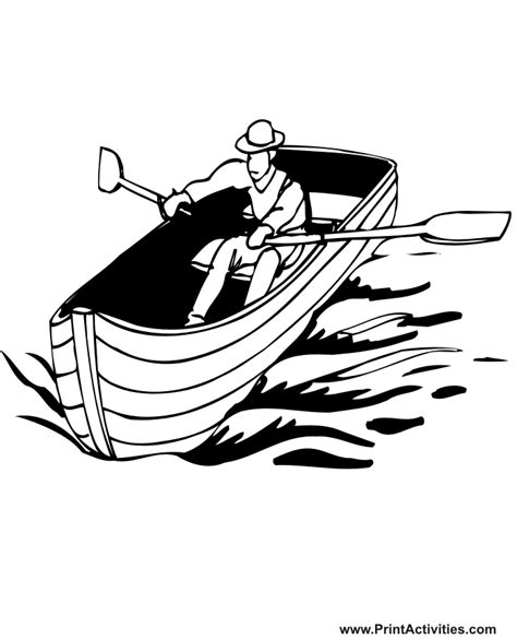 Row Boat Coloring Page by Row Boat Coloring Page Coloring Home