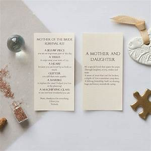 Personalised mother of the bride wedding day gift by for Letter to mother of the bride