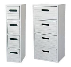Slim Bathroom Drawers by Slim Or Wide White Wooden Bathroom Bedroom Storage Cabinet