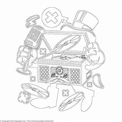 Coloring Pages Cartoon Turntable Classic Getcoloringpages