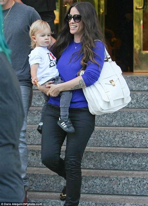 Alanis Morissette relishes in quality time with son Ever ...