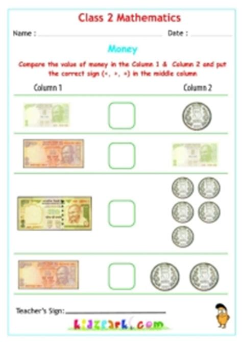 free math worksheets on indian money money worksheets