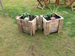 Fabriquer Bac A Fleur : dcoration de jardin fabriquer fabulous les palettes bois pour fabriquer un sol terrasse with ~ Melissatoandfro.com Idées de Décoration