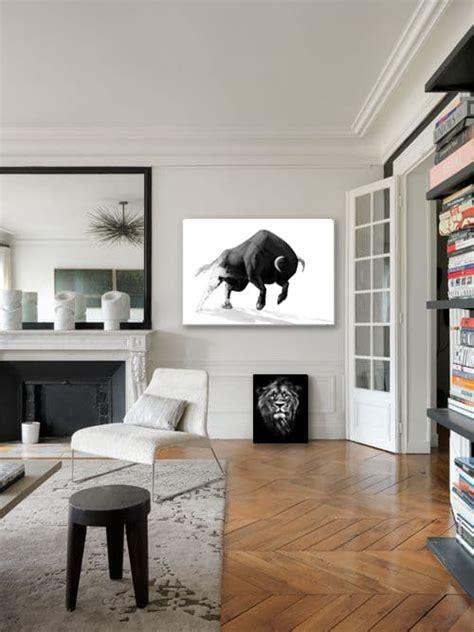 tableau moderne minimaliste taureau nouveaut 233 izoa