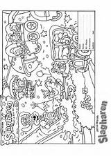 Park Coloring Amusement Pages Theme Map Blank Template Picgifs Pdf sketch template