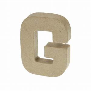 paper mache small letter g 10cm high x 2cm thick With small paper mache letters