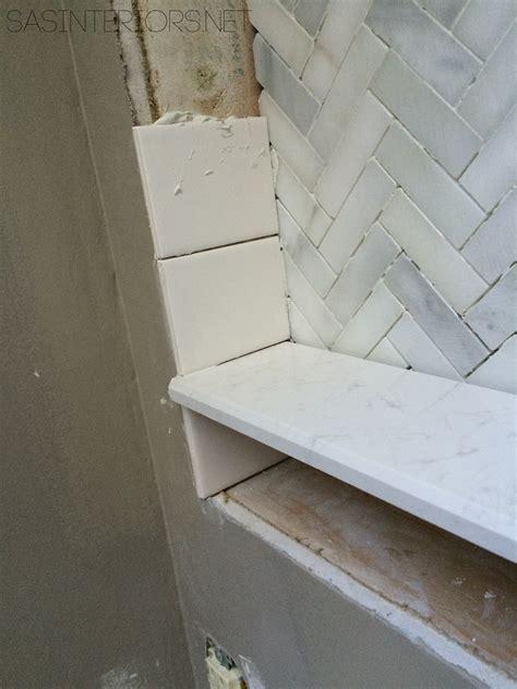 Bathroom Makeover Tiled Niche {day 19 + 20}  Jenna Burger