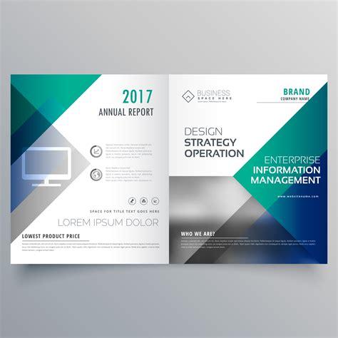 Bi Fold Brochure Design Templates Professional Blue Bi Fold Brochure Template Design Vector
