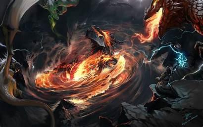 Sorcerer Fantasy Deathwing Fan Abyss Fanart Warcraft