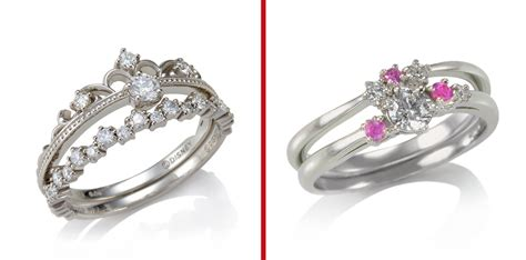 Disney Unveils Line Of Paired Engagement/wedding Rings