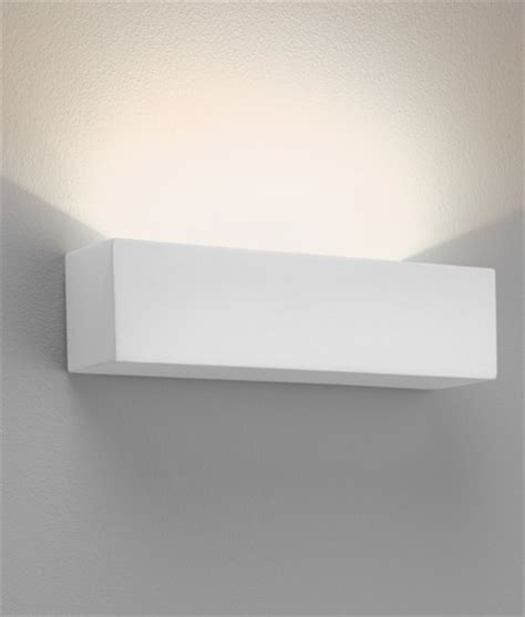 wide brick style plaster uplight with led ls