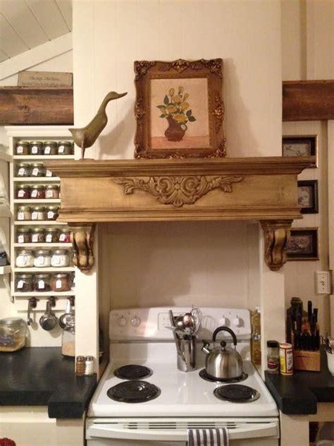mantle  kitchen stove  home remodel pics