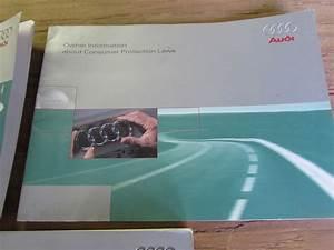 Audi Tt Mk1 8n Owner U0026 39 S User U0026 39 S Manual Guide W   Case