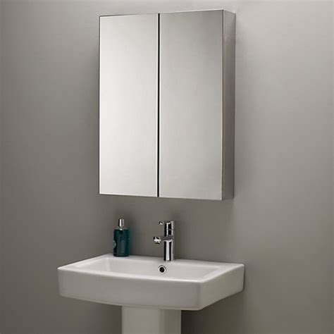 buy john lewis double mirrored bathroom cabinet stainless