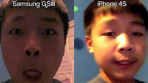 SAMSUNG GALAXY SIII VS iPHONE 4S (Front-Facing Camera ...
