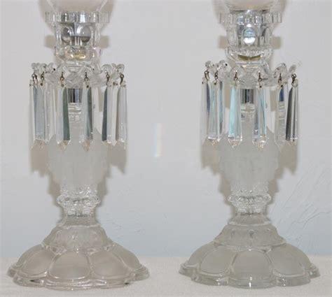candelieri cristallo coppia di candelieri di cristallo galerie lauretta