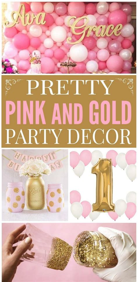 Pink White And Gold Birthday Decorations by 25 Best Ideas About Pink And Gold On Pink