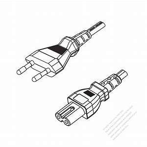 europe 2 pin plug to iec 320 c7 power cord set pvc 18m With wire connector plug as well waterproof electrical 2 pin wire connector