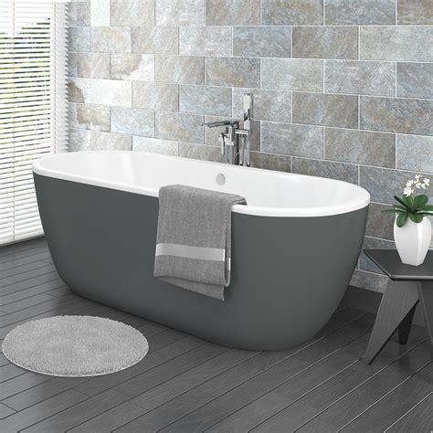 grey freestanding bath gifklikker