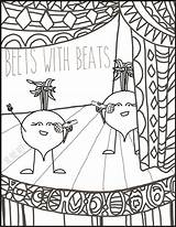 Coloring Beats Beets Beet Uncolored Pages Poster Recipes Version sketch template