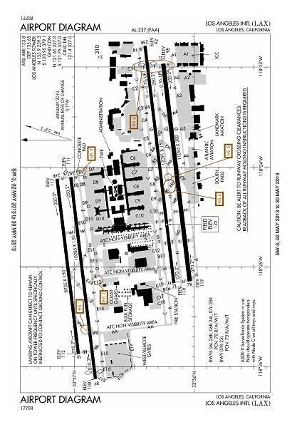 Airport Diagram Lax Svg Klax Los Angeles