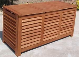 Auflagenbox Holz Wasserdicht : xl auflagenbox kissenbox santa rosa 128x52x62cm eukalyptus fsc zertifiziert ebay ~ Whattoseeinmadrid.com Haus und Dekorationen