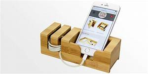 Phone Holder, iPhone Stand Bamboo Office Supplies