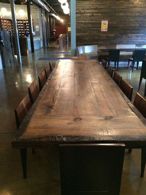 reclaimed wood dining table top office conference table