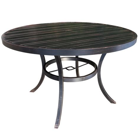 milano cast aluminum dining table patio sun country