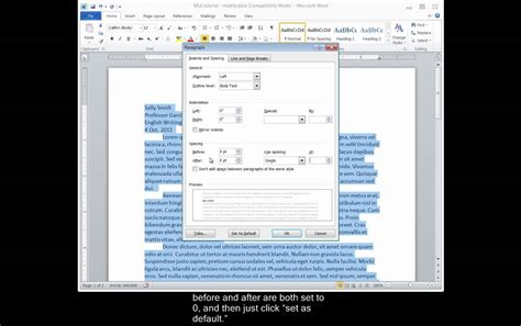 mla word mla format in word 2010