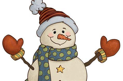 Country Christmas Snowman Clip Art