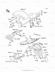 Kawasaki Motorcycle 2003 Oem Parts Diagram For Fenders