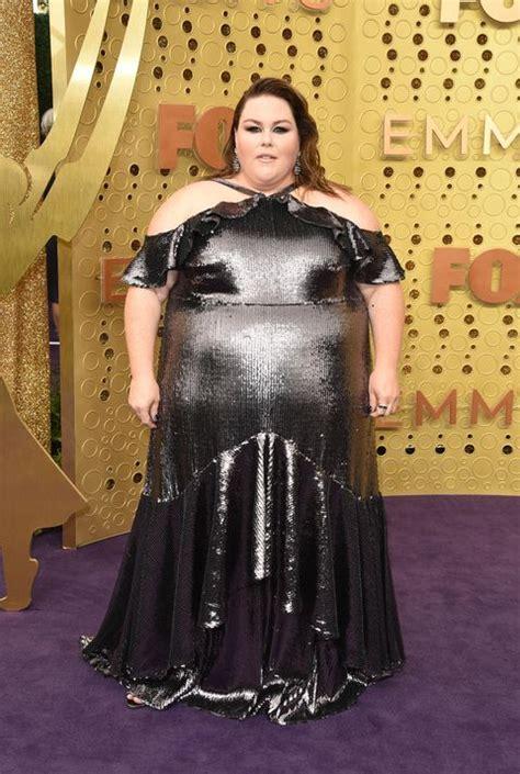 metz chrissy emmy emmys awards carpet silver getty looks sequin wears shearer john gettyimages