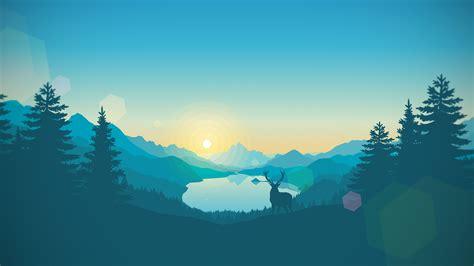 sunrise lake artwork gradient vectors landscape