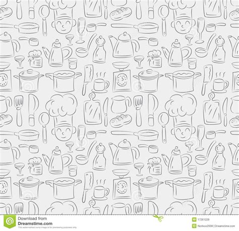 seamless cooking pattern royalty  stock images image