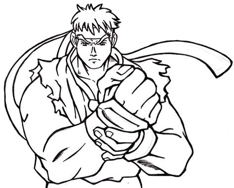 street fighter coloring pages Ryu Coloring Pages   Democraciaejustica street fighter coloring pages