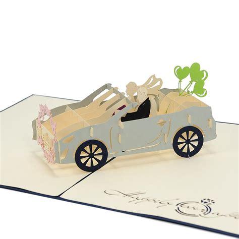 Pop Up Car by Wedding Car Pop Up Card Custom High Quality 3d Wedding