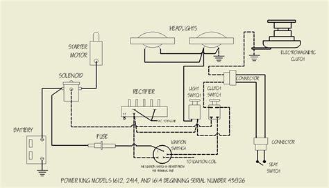 motor wiring wiring diagram power king factory kubota