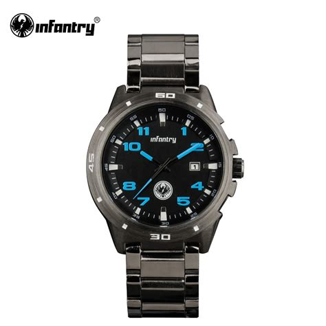 watches for men infantry watch gunmetal military wrist watches for men