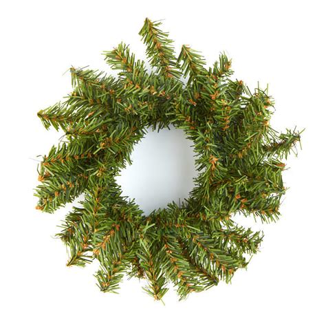 small artificial pine wreath holiday florals