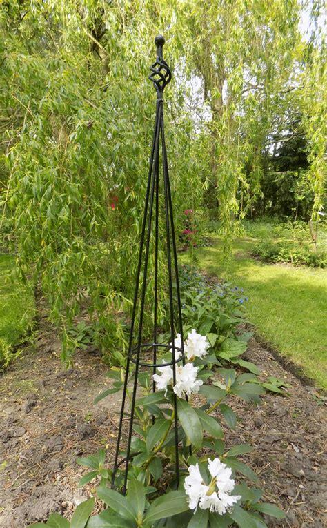 Finial Metal Obelisk  Climbing Plant Garden Support