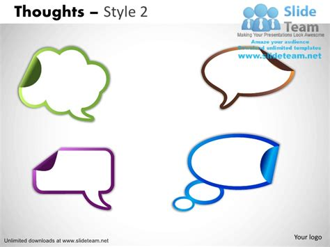 thought bubble powerpoint template call outs exclamation thought idea bubble powerpoint