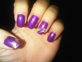 Purple nail art designs acrylic