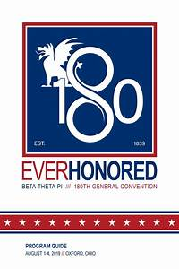 180th General Convention Program Guide By Beta Theta Pi