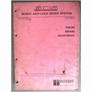 Peugeot 605 Anti Lock Brake Bendix Manual 077 90