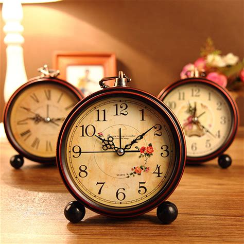 home decor clock vintage aralm clock table desk wall clock retro rural