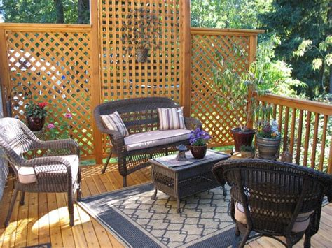 Upper Deck Privacy Ideas