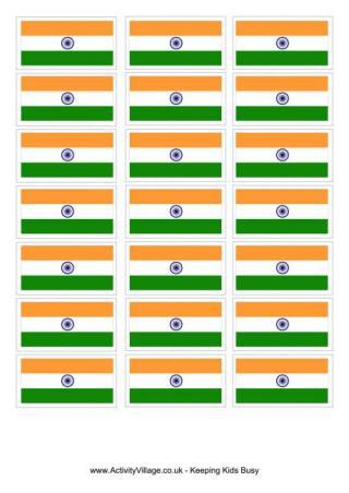 india flag colouring page